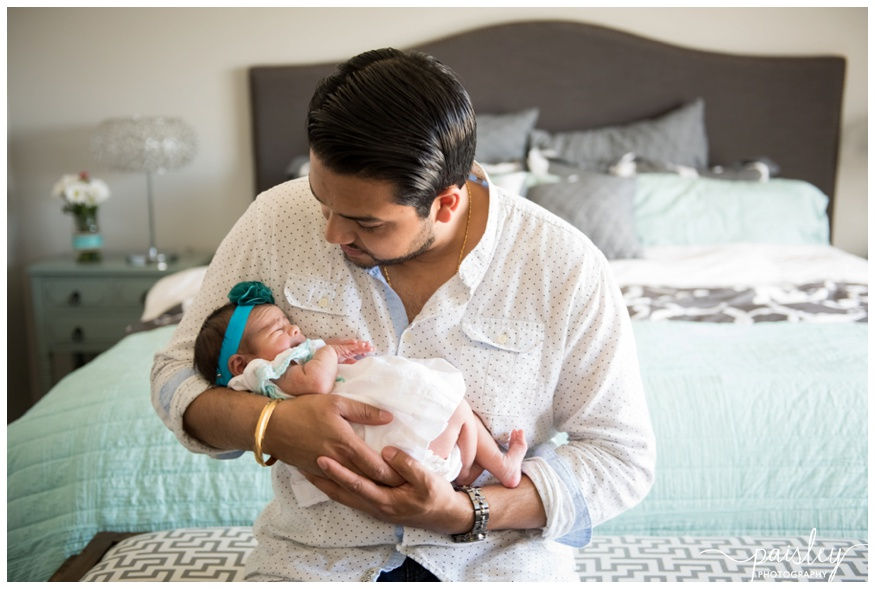 Dad & Baby Newborn Photography