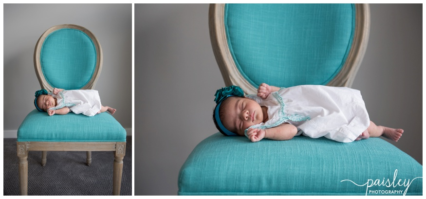 Vintage Chair Newborn Photography