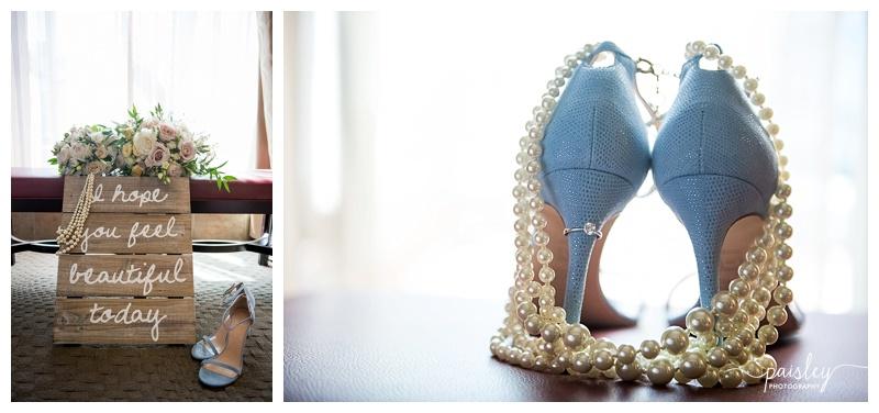 Blue Wedding Shoes- Calgary Wedding Photographer
