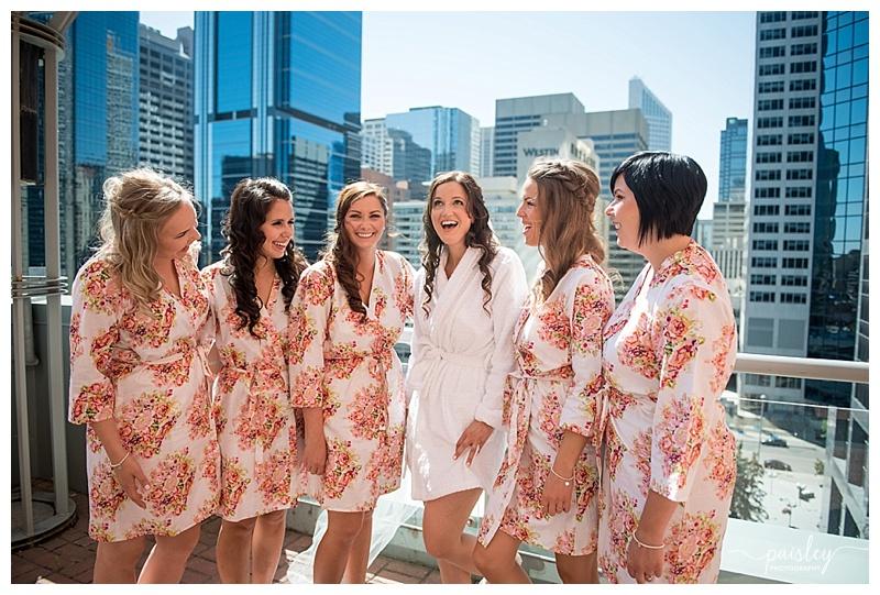 Foral Bridesmaid Robes - Calgary Wedding Photographers