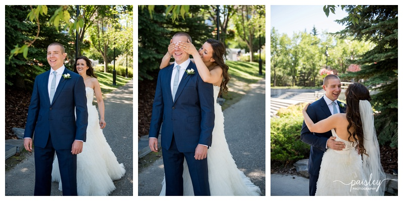 Calgary First Look Wedding Photography