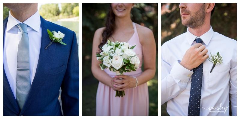 White Rose Wedding Boqouet - Calgary Wedding