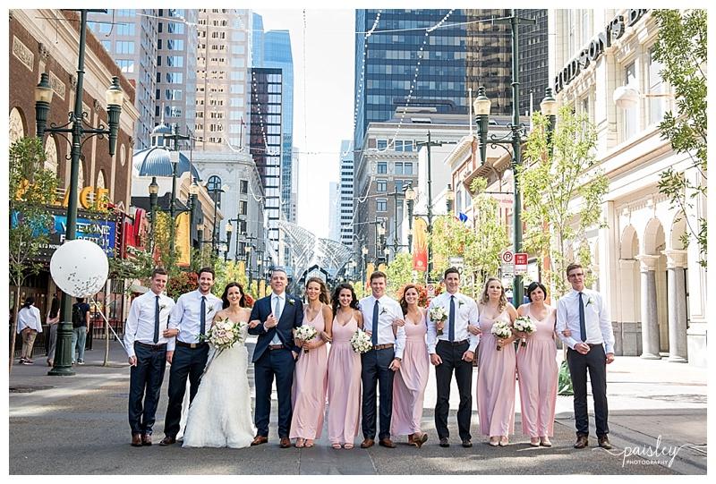 Stephen Avenue Calgary Wedding Photography