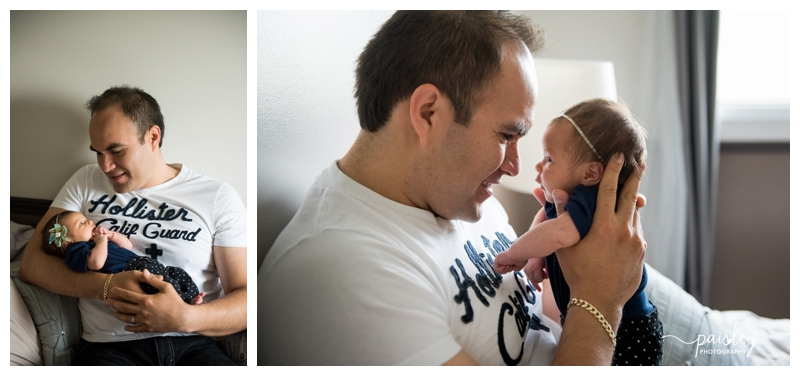 Dad & Baby Newborn Photography