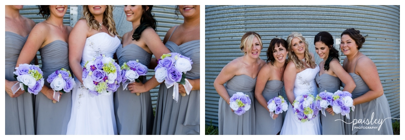 Grey Bridesmaid Dress, Calgary Wedding Photos