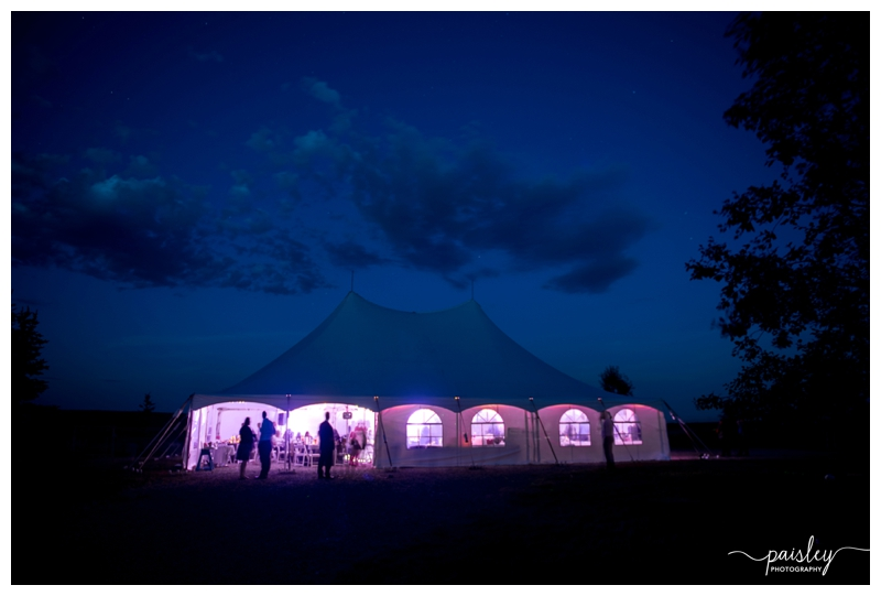 Tent Wedding Reception Calgary Alberta