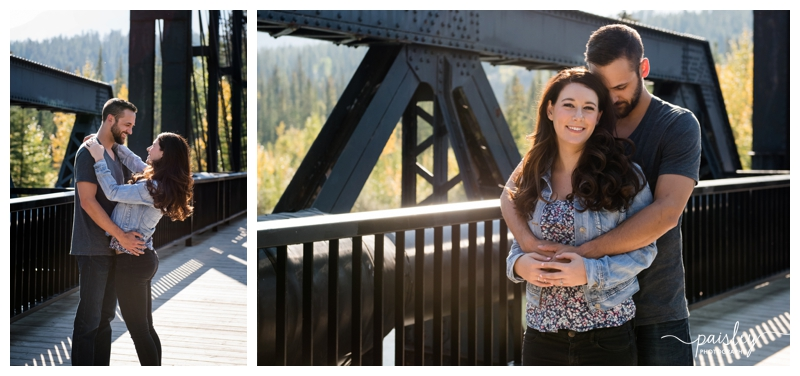 Iron Bridge Canmore Engagement Photos