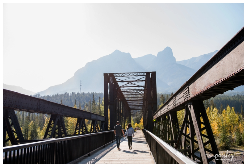 Iron Bridge Canmore Engagement Photography