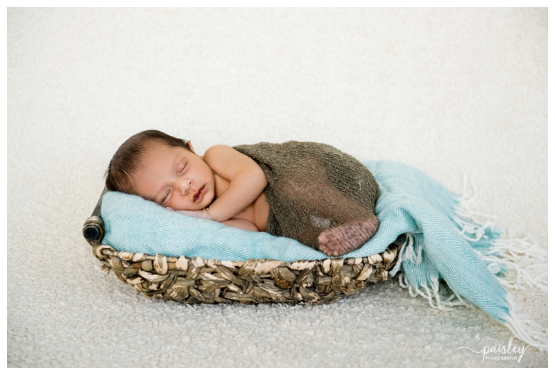 Baby in a Basket Newborn Photography