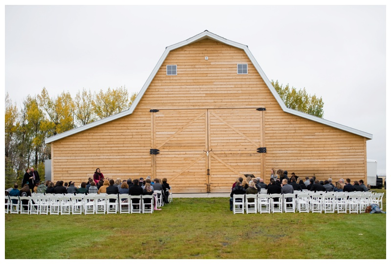 Willow Lane Wedding Barn Ceremony Olds Alberta
