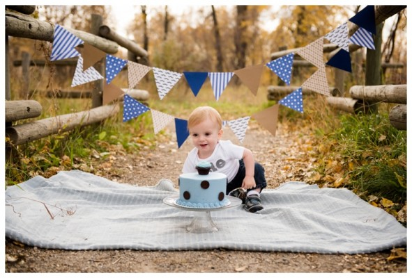 Cake Smash Photography Session Calgary- Thomas is ONE!