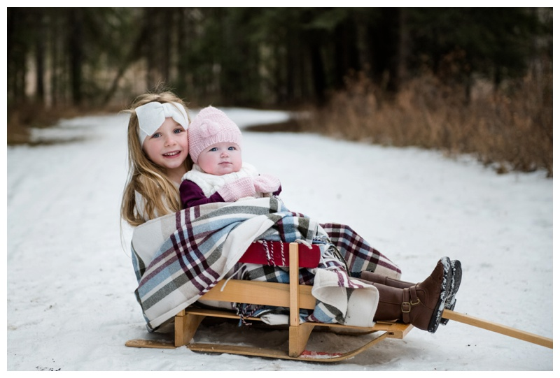 Winter Family Photography Session Calgary