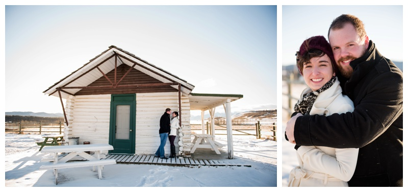 Winter Engagement Photography Cochrane