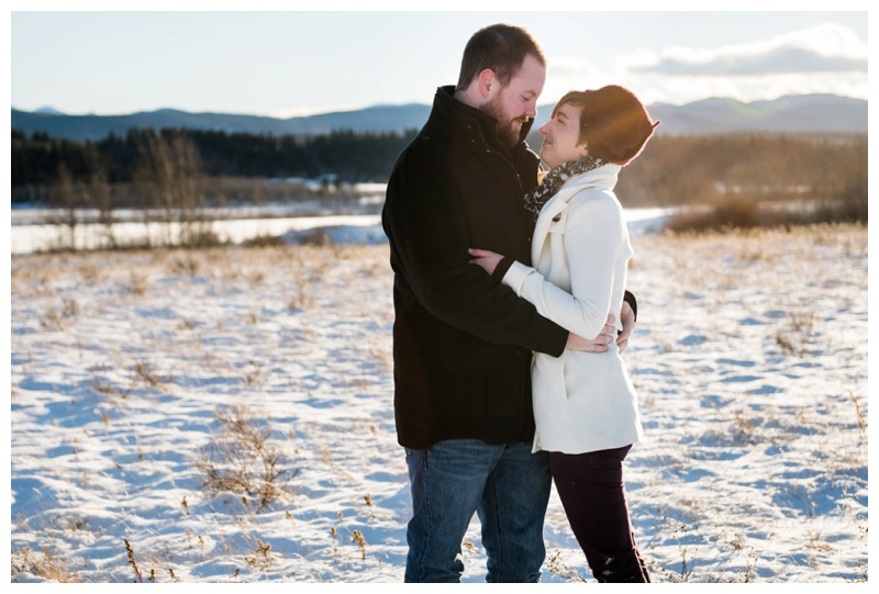 Winter Engagement Photos Cochrane Alberta