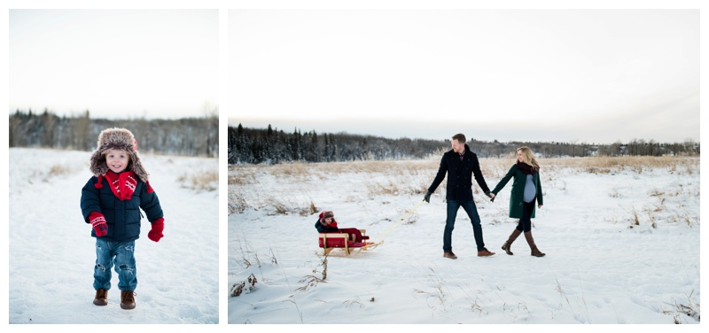 Winter Family Photography Calgary Alberta