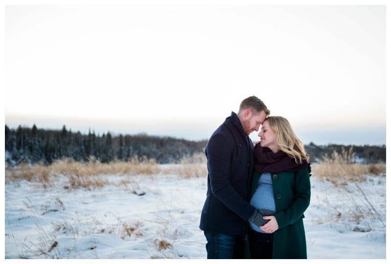 Winter Maternity Photos Calgary