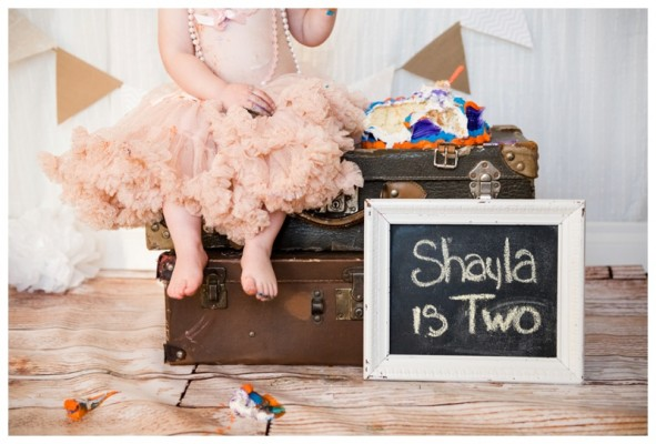 Calgary Cake Smash Photographer – Shayla's Tea Party Cake Smash