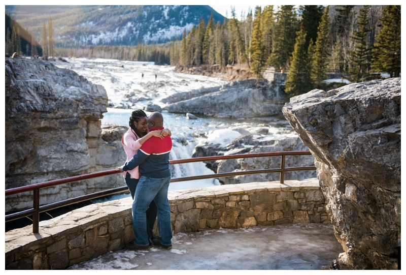 Elbow Falls Engagement Photography