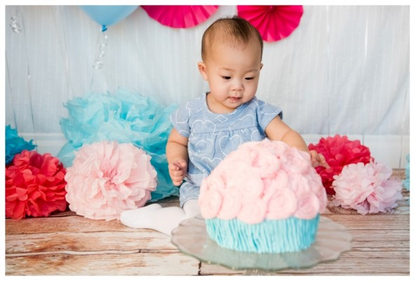Calgary First Birthday Cake Smash Photography ~ Charlotte is ONE!