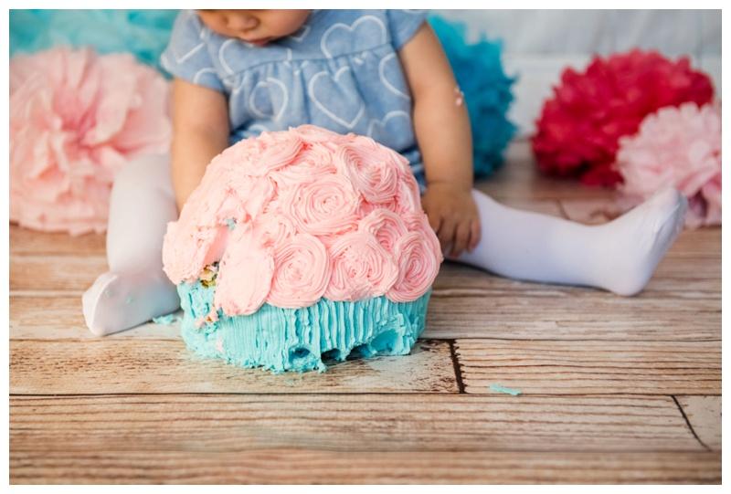 First Birthday Cake Smash Photos Calgary
