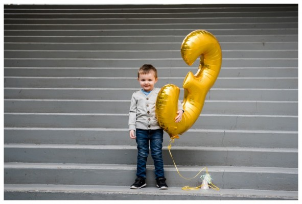 Calgary Children's Photographer –  Cooper Is 3!