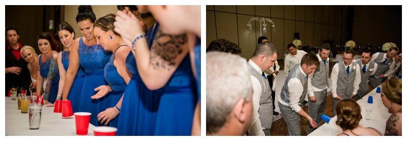 Flip Cup at Wedding Receptions