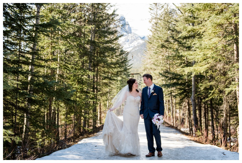 Canmore Winter Wedding Photos