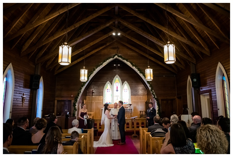 st. Michael's Anglican Church Wedding Canmore