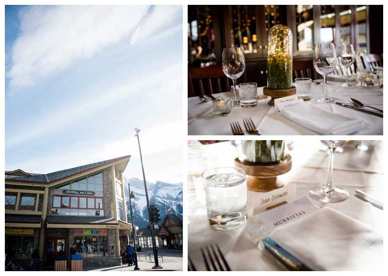 Murrieta's Restaurant Canmore Wedding