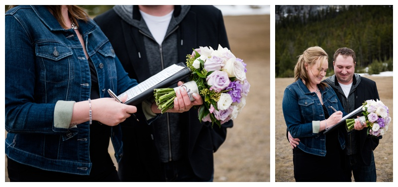 Intimate Mountain Elopement Banff