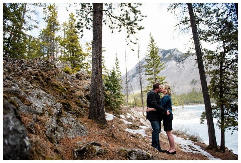 Lake Minnewanka Engagement Photography