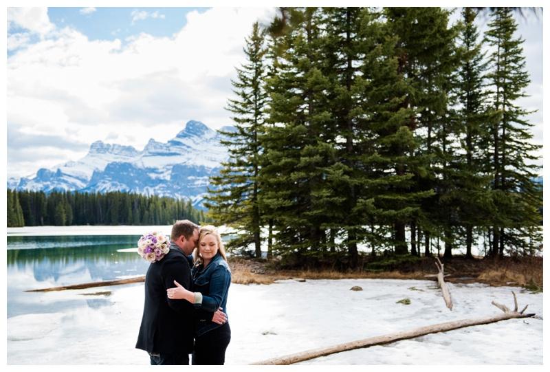 Two Jack Lake Engagement Photography