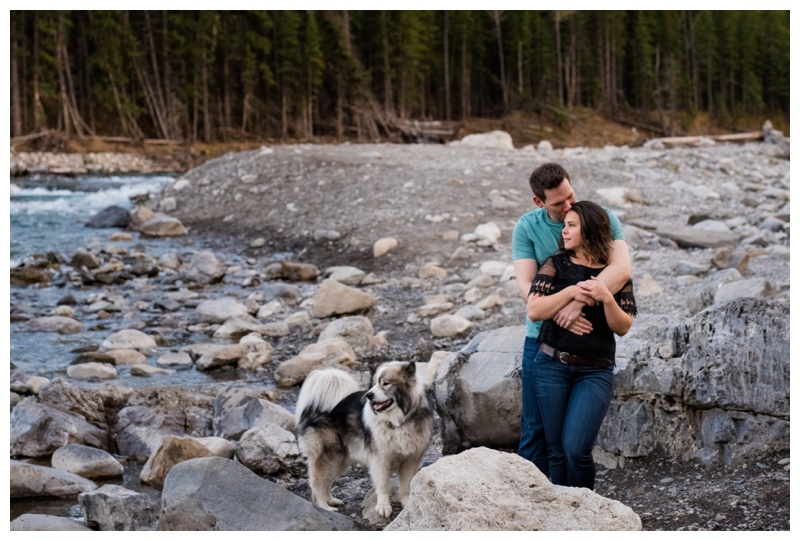 Elbow Falls Engagement Photographer
