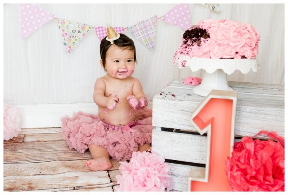 Calgary Cake Smash Photo Session ~ Ava Is ONE!!