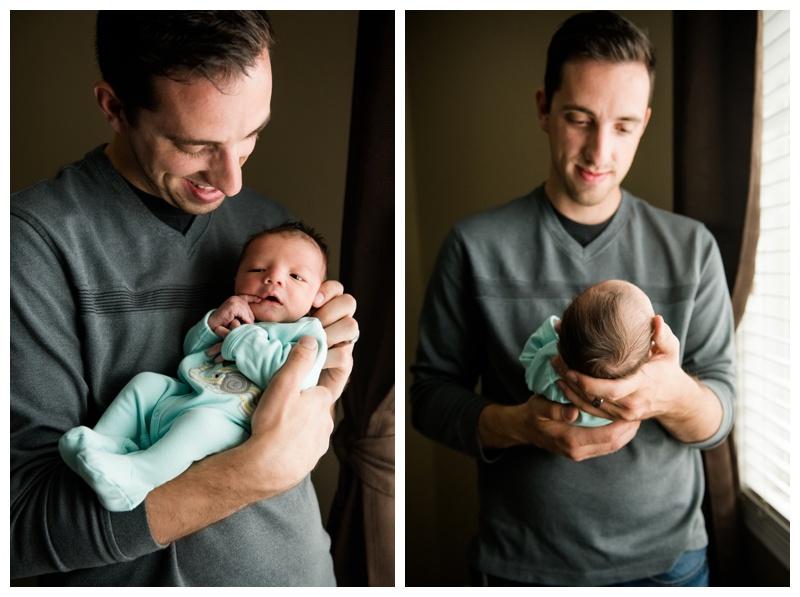 Dad & Son Newborn Photos Calgary