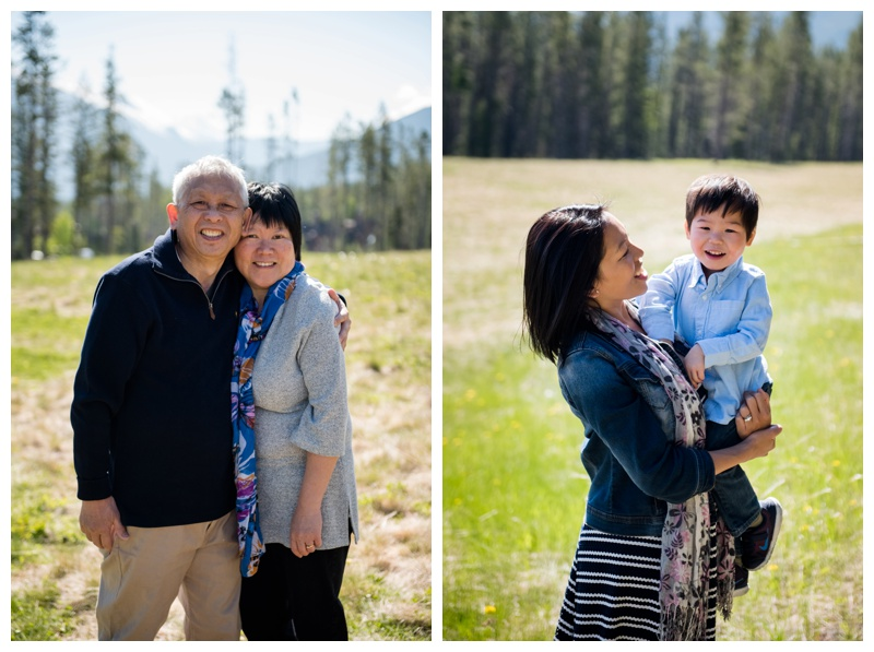 Three Sisters Mountain Family Photos - Canmore Family Photographer