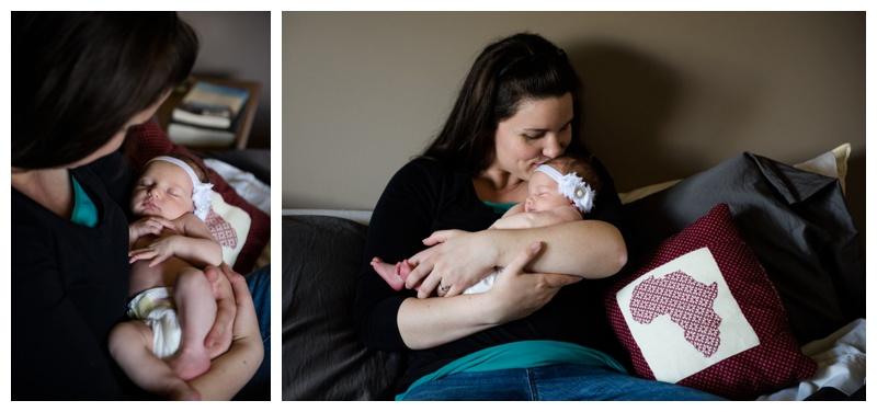 Mom & Baby Newborn Photographer Calgary
