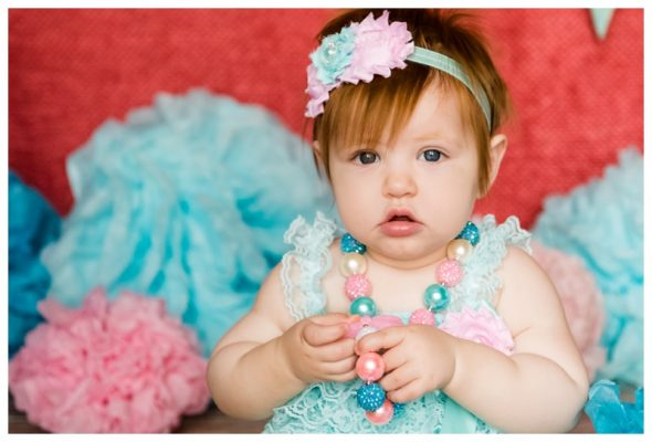 Calgary Studio Cake Smash Photography ~ Elena is ONE!