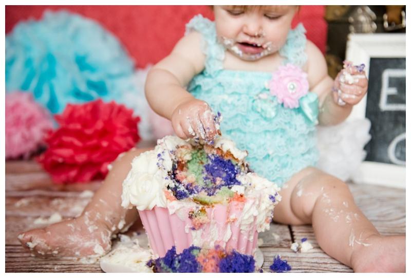 Calgary Studio Cake Smash Photos