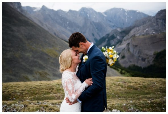Canmore Helicopter Elopement – David & Carley's Canmore Wedding