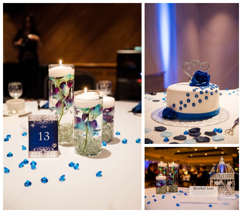 Royal Blue Wedding Reception Decor