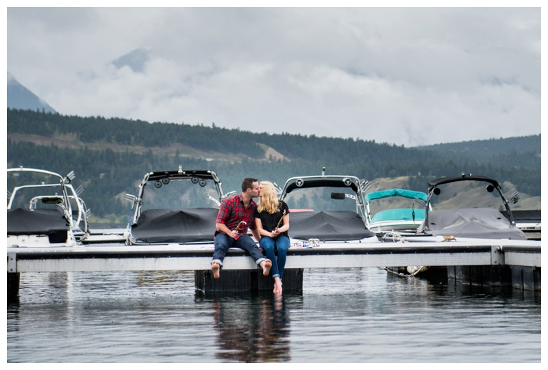 Dock Engagement Photography Invermere