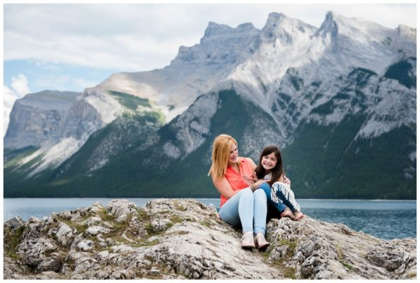 Banff Mother & Daughter Family Photography – Lake Minniwanka Family Session