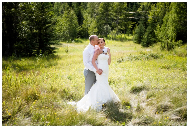 Bride & Groom Portraits Banff Alberta