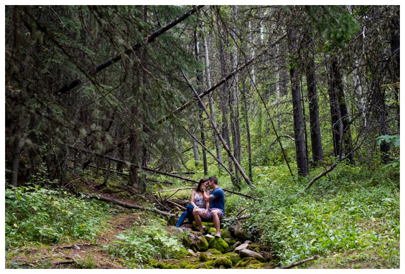 Mountain Engagement Photography Alberta