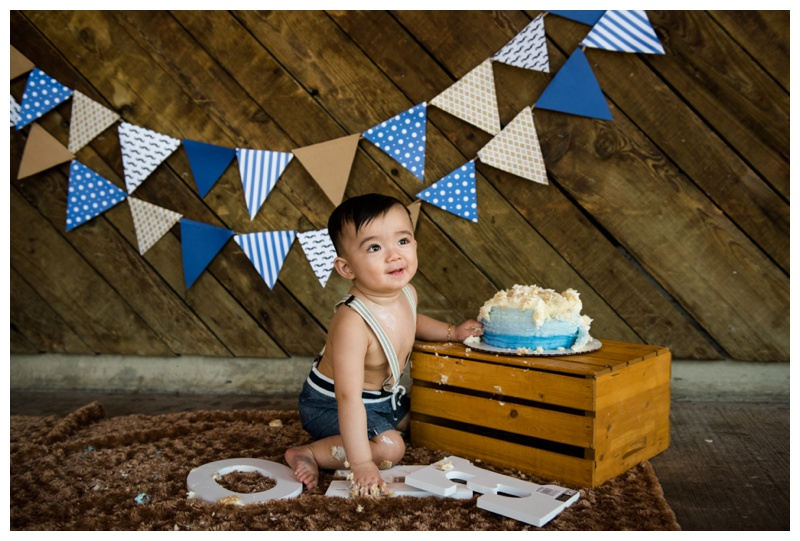 Nautical Themed Cake Smash Photography