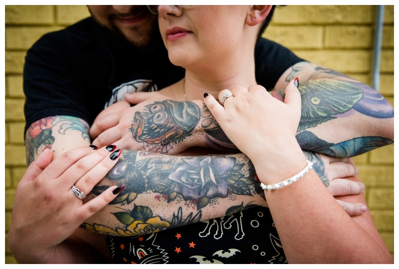 Tattooed Engagement Photos Calgary