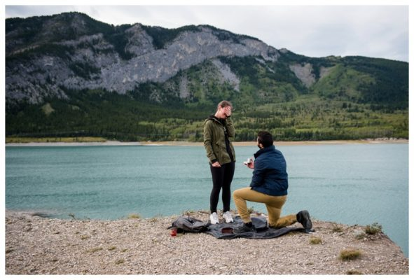 Canmore Surprise Wedding Proposal Photography – Mountain Proposal Photographer