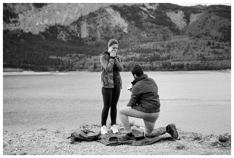 Canmore Surprise Wedding Proposal Photography