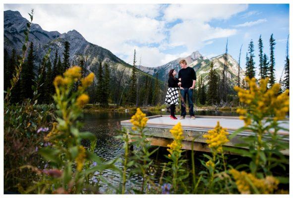 Kananaskis Mt. Lorette Ponds Engagement Photography – David & Megan
